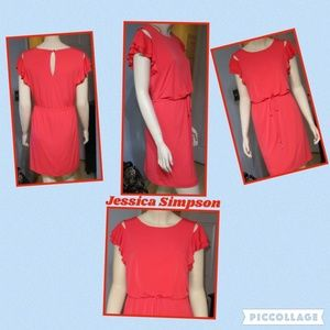 Jessica Simpson Dress - Short Sleeves - Orange
